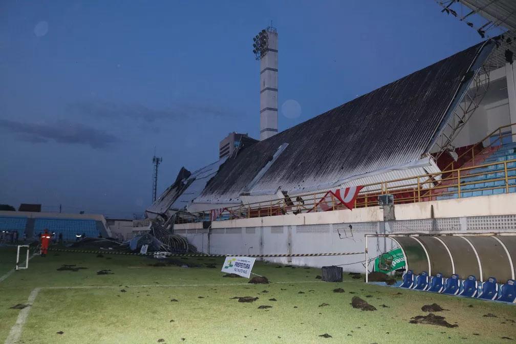 Desabamento de teto em estádio de Imperatriz teria sido uma tragédia se estivesse liberado o acesso de torcidas
